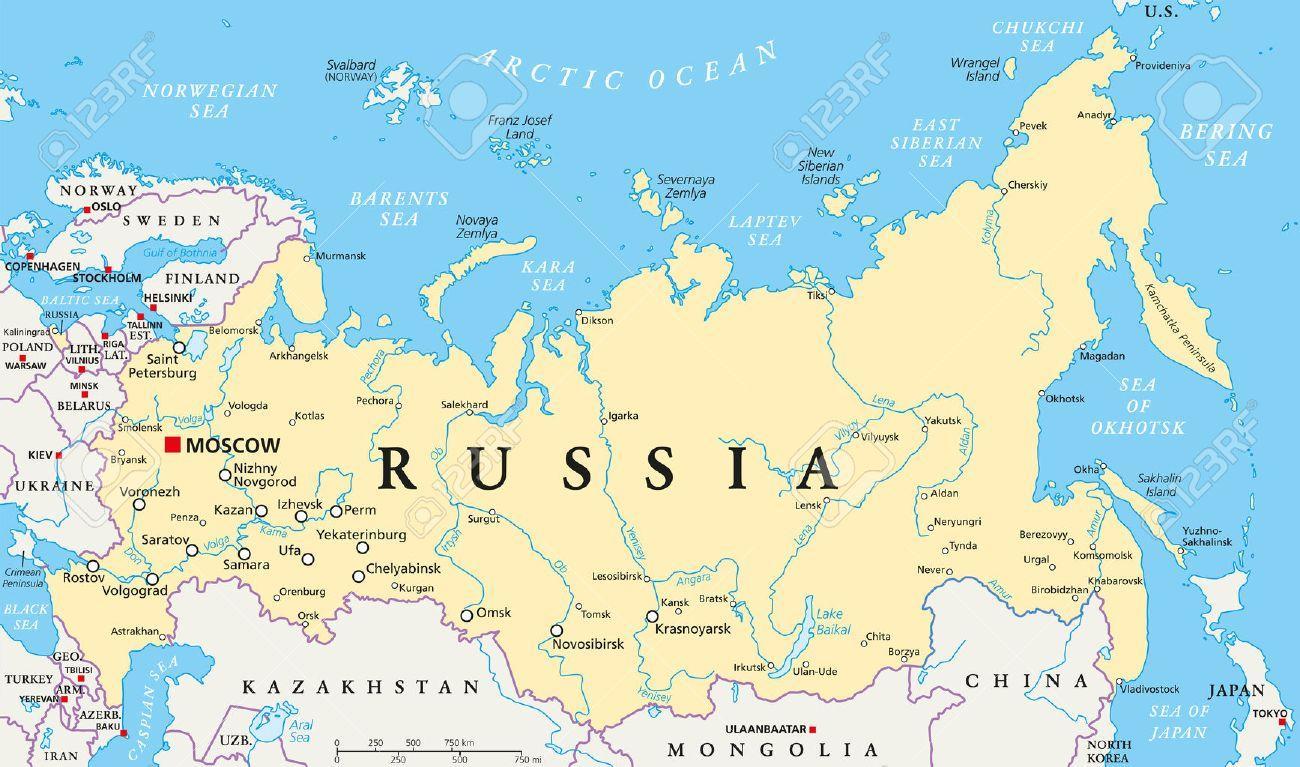 Kapital Od Rusije Mapu Rusija Je Mapa Kapitala Istocne Evrope