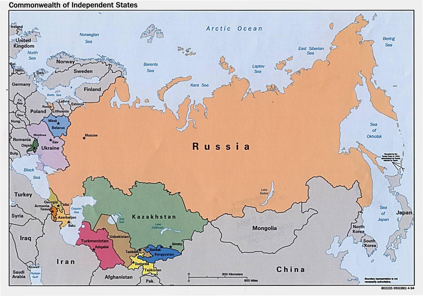 Rusija Danas Mapu Mapa Rusije Danas Istocne Evrope Evropi