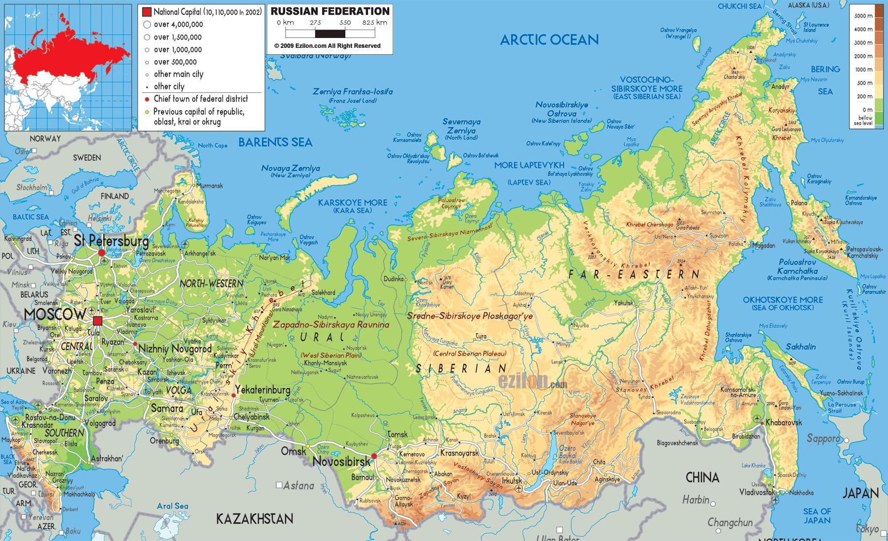 mapa rusije Rusija je mapa   Mapa Rusije (Istočne Evrope   Evropi) mapa rusije