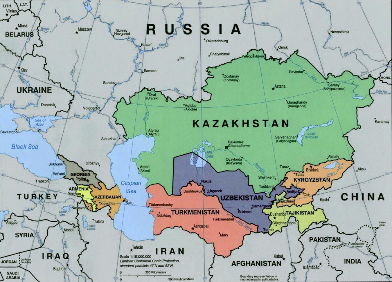 Rusije I Centralnoj Aziji Mapu Mapu Za Rusiju I Centralnoj Aziji