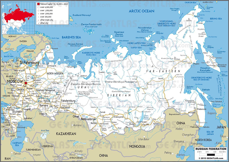 Zemalja U Rusiji Mapu Rusija Mapa Sa Zemlje Istocne Evrope