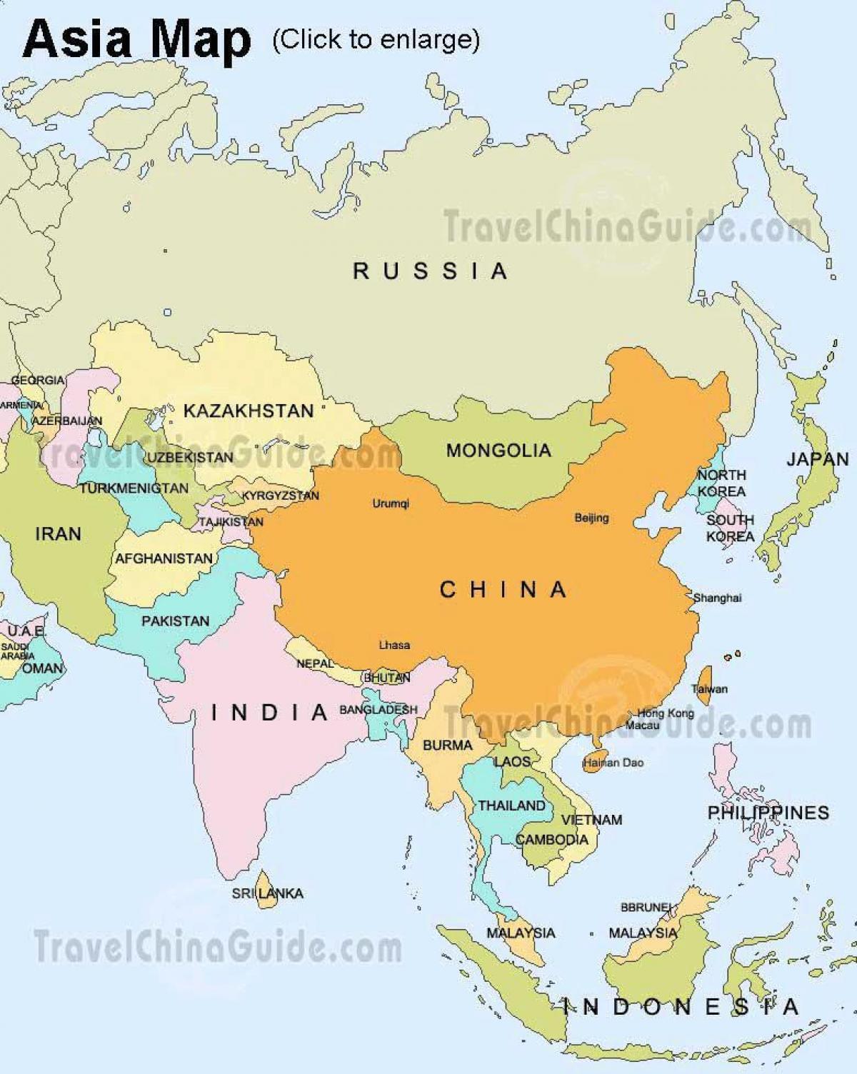 Karta Iz Rusije I Azije Rusija Aziji Mapu Istocne Evrope Evropi