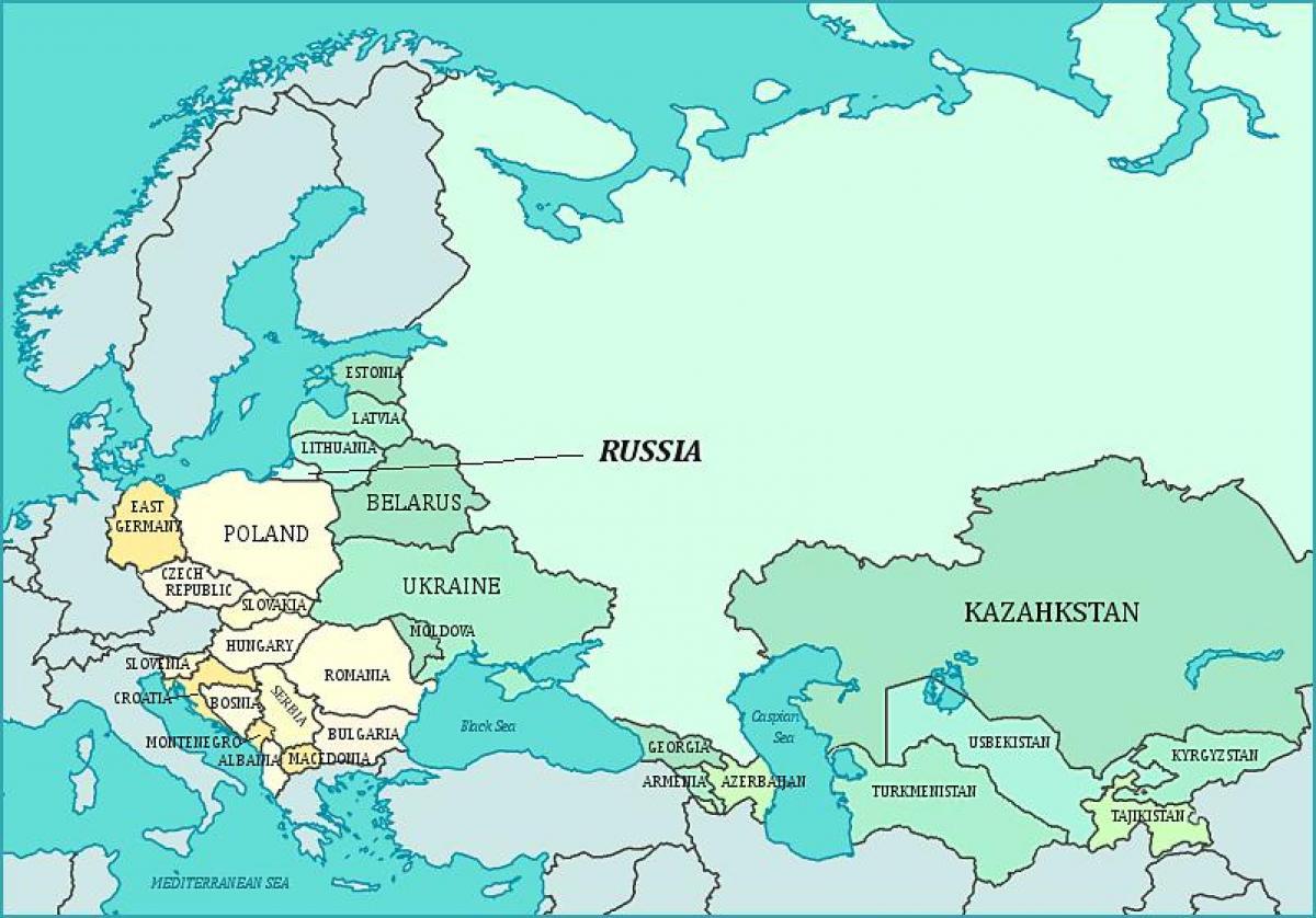 Karta U Bivsem Sssr Mapa Bivsem Sssr A Istocne Evrope Evropi