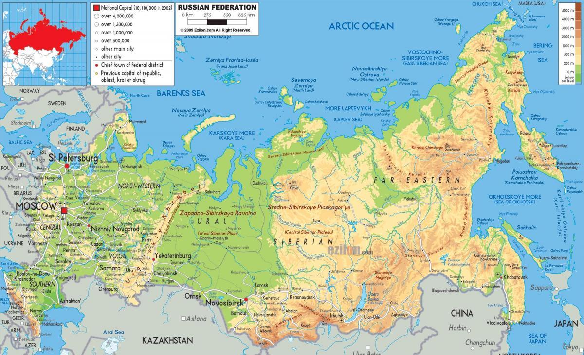 Rusija Je Mapa Mapa Rusije Istocne Evrope Evropi