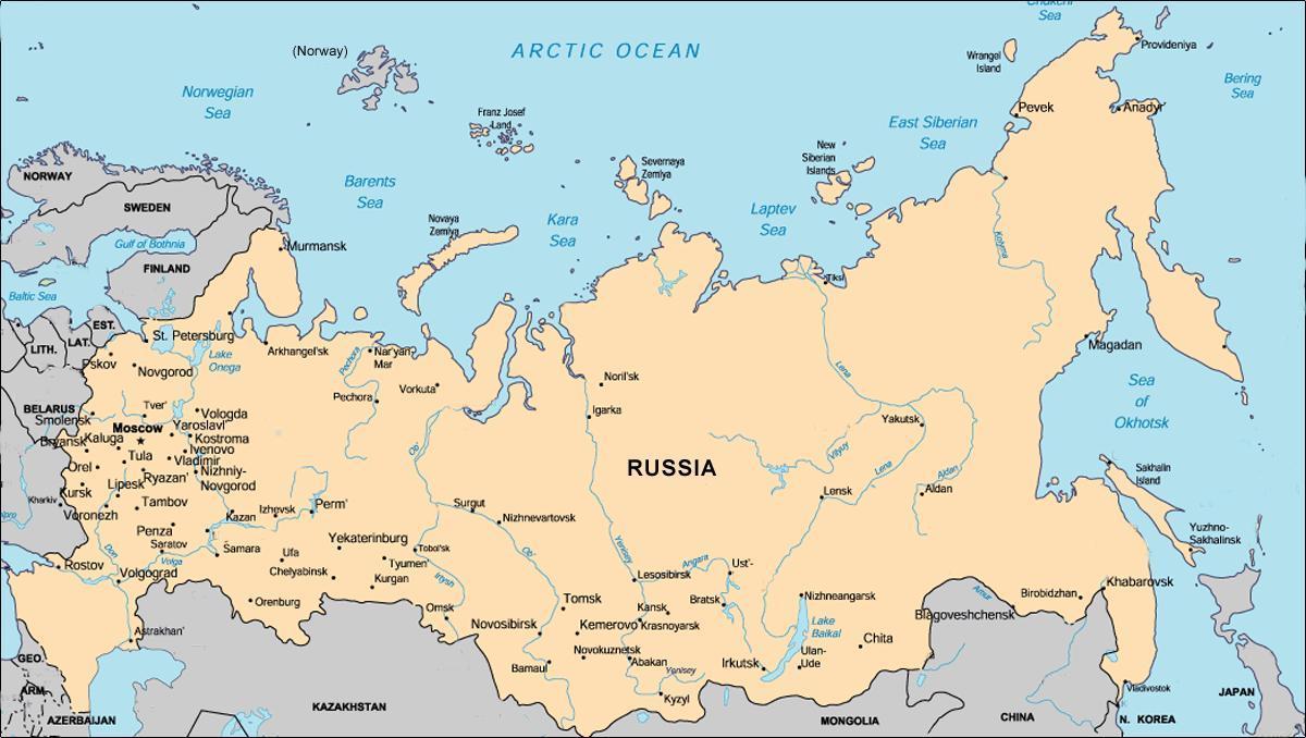 Rusija Podrucje Mapu Mapa Je Iz Rusije Prostor Istocne Evrope