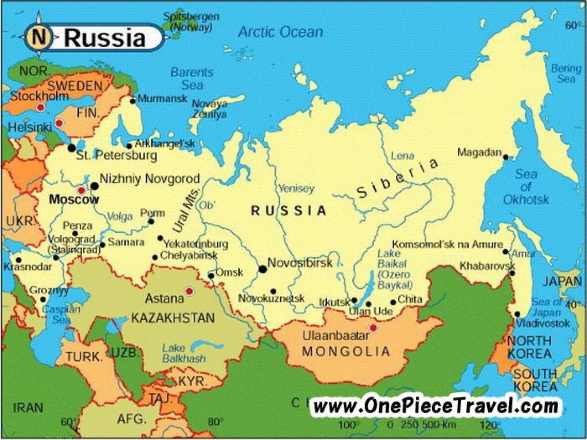 rusija karta Rusija turističke mapu   Turističke karta iz Rusije (Istočne  rusija karta