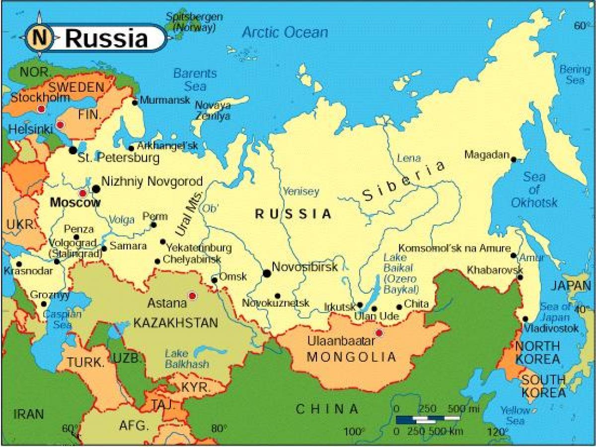 mapa rusije Zemalja širom Rusije mapu   Mapa zemalja širom Rusije (Istočne  mapa rusije